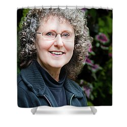 Portrait In The Leaves Shower Curtain