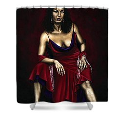 Portrait Of A Dancer Shower Curtain by Richard Young