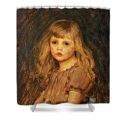 Portrait Of A Girl Shower Curtain by John William Waterhouse