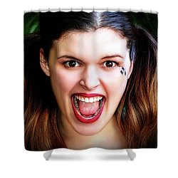 Portrait Of A Harlequin Shower Curtain