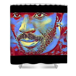 Portrait Of A Man Of Color Shower Curtain