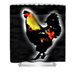 Portrait Of A Rooster Shower Curtain