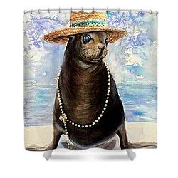 Portrait Of A Sea Lion Shower Curtain
