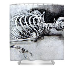 Portrait Of A Skeleton Shower Curtain