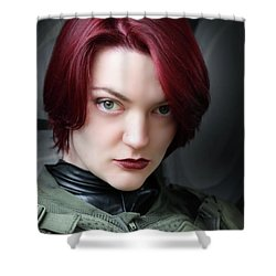 Portrait Of A Starship Trooper Shower Curtain