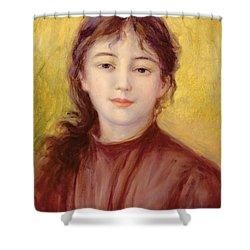 Portrait Of A Woman Shower Curtain by Pierre Auguste Renoir