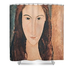Portrait Of A Young Girl Shower Curtain by Amedeo Modigliani