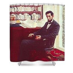 Portrait Of Abraham Lincoln Shower Curtain by Howard Pyle