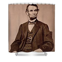 Portrait Of Abraham Lincoln Shower Curtain by Mathew Brady
