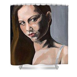 Portrait Of Amanda Shower Curtain