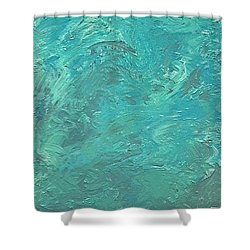 Portrait Of An Angry Sea Shower Curtain
