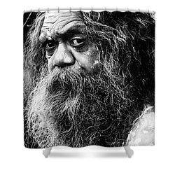 Portrait Of An Australian Aborigine Shower Curtain by Sheila Smart Fine Art Photography
