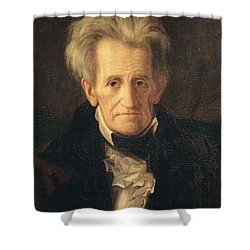 Portrait Of Andrew Jackson Shower Curtain by George Peter Alexander Healy