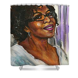 Portrait Of Angela By Alga Washington Shower Curtain