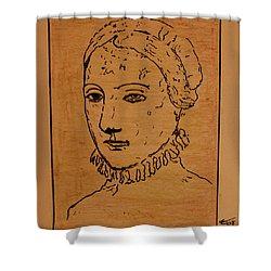 Portrait Of Anne Shower Curtain by Bill OConnor