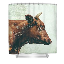 Portrait Of Bess Shower Curtain by Katherine Smit