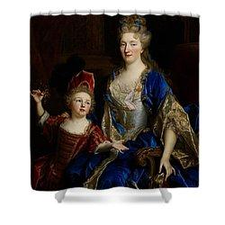 Portrait Of Catherine Coustard Shower Curtain by Nicolas de Largilliere