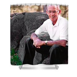 Portrait Of Dad Shower Curtain