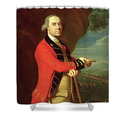 Portrait Of General Thomas Gage Shower Curtain by John Singleton Copley