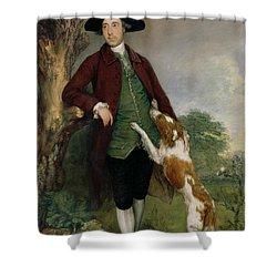 Portrait Of George Venables Vernon Shower Curtain by Thomas Gainsborough