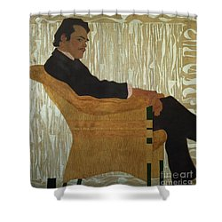 Portrait Of Hans Massmann Shower Curtain by Egon Schiele