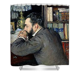 Portrait Of Henri Cordier Shower Curtain by Gustave Caillebotte