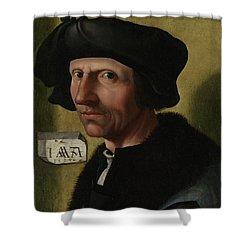 Portrait Of Jacob Cornelisz Van Oostsanen Shower Curtain