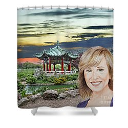 Portrait Of Jamie Colby By The Pagoda In Golden Gate Park Shower Curtain