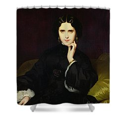 Portrait Of Jeanne De Tourbay Shower Curtain by Eugene Emmanuel Amaury-Duval