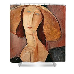 Portrait Of Jeanne Hebuterne In A Large Hat Shower Curtain