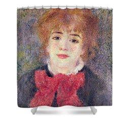 Portrait Of Jeanne Samary Shower Curtain by Renoir