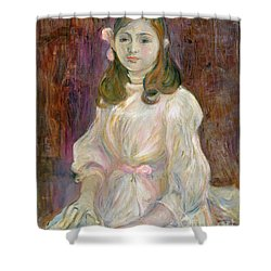 Portrait Of Julie Manet Shower Curtain by Berthe Morisot