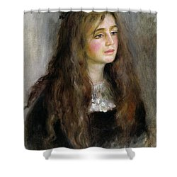Portrait Of Julie Manet  Shower Curtain by Pierre Auguste Renoir