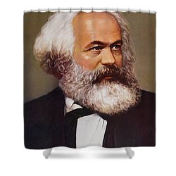 Portrait Of Karl Marx Shower Curtain by Unknown