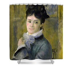Portrait Of Madame Claude Monet Shower Curtain by Renoir