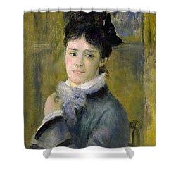 Portrait Of Madame Claude Monet Shower Curtain by Renoir
