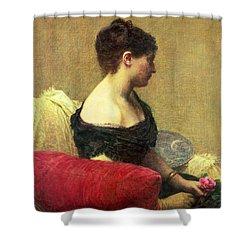 Portrait Of Madame Maitre Shower Curtain by Ignace Henri Jean Fantin Latour