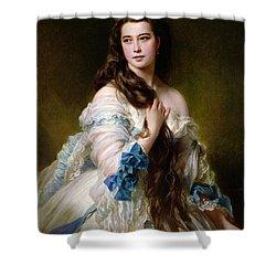 Portrait Of Madame Rimsky Korsakov Shower Curtain by Franz Xaver Winterhalter