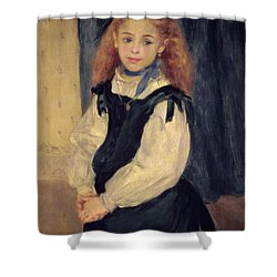 Portrait Of Mademoiselle Legrand Shower Curtain by Pierre Auguste Renoir