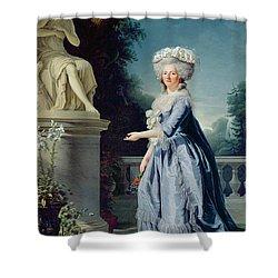 Portrait Of Marie-louise Victoire De France Shower Curtain by Adelaide Labille-Guiard