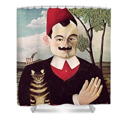 Portrait Of Pierre Loti Shower Curtain by Henri Rousseau