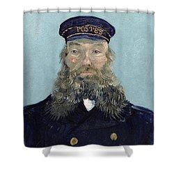 Portrait Of Postman Roulin Shower Curtain by Vincent van Gogh