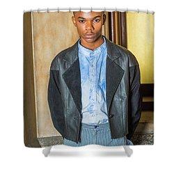 Portrait Of School Boy 15042624 Shower Curtain