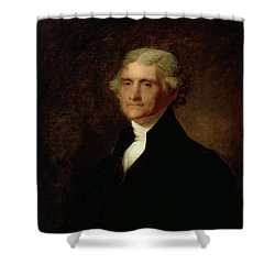 Portrait Of Thomas Jefferson Shower Curtain by Asher Brown Durand