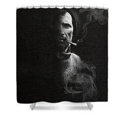 Portrait Of Tom Crean Antarctic Explorer Shower Curtain by Andy Walsh
