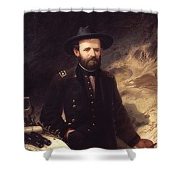 Portrait Of Ulysses S. Grant Shower Curtain