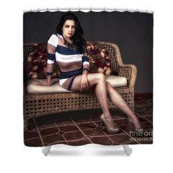 Portrait Of Vanessa  ... Shower Curtain by Chuck Caramella