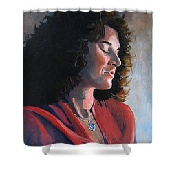 Portrait Of Young Isabelle Shower Curtain by Ray Agius