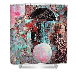 Portrait. Pink Dreams Shower Curtain by Anastasija Kraineva