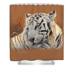 Portrait White Tiger 1 Shower Curtain